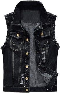 Mens Jean Gilets Top Designed Jacket Outerwear Tops Blazer Casual Slim Fit Skinny Dress Cowboy Denim Vest Waistcoat