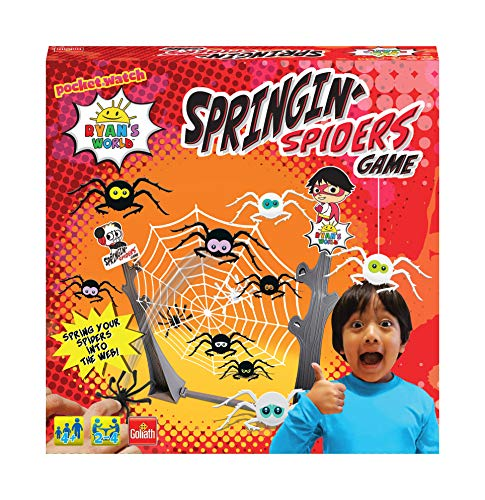 Goliath Games FO70022 Ryans World Springing Spiders Spiel, Multi