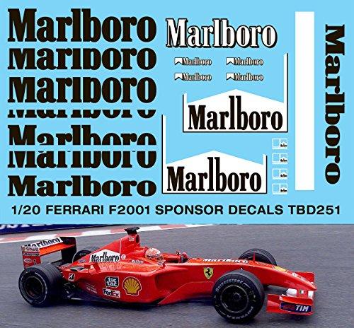 1/20 Ferrari F2001 for Tamiya Sponsor Decals TB Decal TBD251
