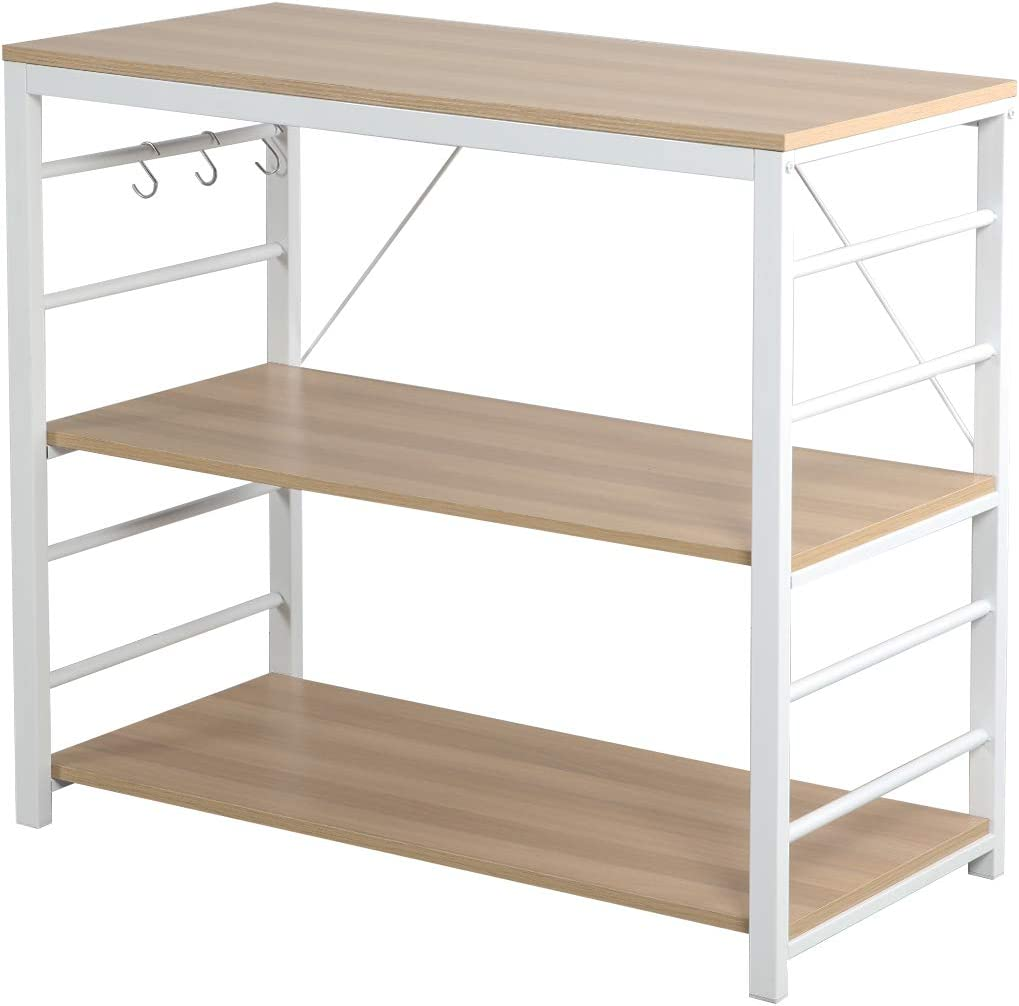 Soges Free OFFicial store Shipping Cheap Bargain Gift Kitchen Baker's Rack Utility Shelf Storage Oven Microwave