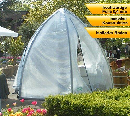 Florino Foliengewächshaus Gewächshaus Größe XL // Ø340x280 cm // Tomatenhaus & Pflanzenhaus mit Spezialfolie