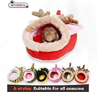 MYIDEA 暖かいモルモットベッド、ヘッジホッグウィンターネスト、ラットチンチラ&小型ペット動物ベッド/キューブ/ハウス、生息地、軽量、耐久性、ポータブル、クッションビッグマット (L, レッドエルク Red elk)MYIDEA 暖かいモルモットベッド、ヘッジホッグウィンターネスト、ラットチンチラ&小型ペット動物ベッド/キューブ/ハウス、生息地、軽量、耐久性、ポータブル、クッションビッグマット (S, レッドエルク Red elk)