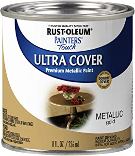Rust-Oleum 240287 Painter's Touch Satin Gold Metallic, HP, 1/2 Pint