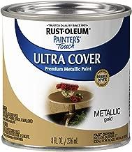 Rust-Oleum 240287 Painter's Touch Satin Gold Metallic, HP, 1/2 Pint
