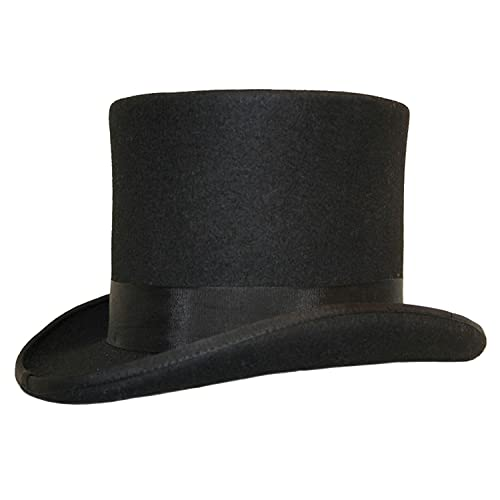 HIGH QUALITY 100% WOOL TOP HAT --- SATIN LINED --- BOXED 2e8e732e682