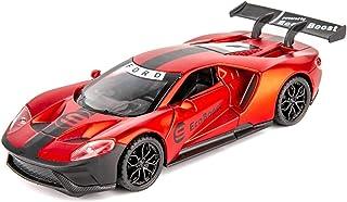 1:32 para Ford GT Súper Coche Deportivo De Aleación De Zinc De Alta Simulación Modelo De Extracción del Modelo del Coche De 3 Puertas Abiertas Sound Light Juguetes For Los Niños Modelo De Auto