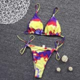 Bikini de trajes de baño de mujer Atractiva Micro Bikinis De Brasil 2020 Mujer Nuevo Traje De Baño For Las Mujeres Sin Respaldo Femenina Del Traje De Baño Ropa De Playa Render Impresión Biquini
