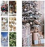 Hochwertiger Textilbanner Weihnachten/Winter – Große Auswahl – 180cmx90cm – Einseitig Bedruckt - Schaufenster Deko - Wanddeko/Textilbild/Fotoprint - Fensterdeko & Wandbehang - Weihnachtsdeko