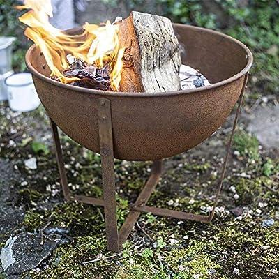 La Hacienda 58564 Oxidised Tamba Small Fire Pit Basket Bowl Outdoor Heater from La Hacienda