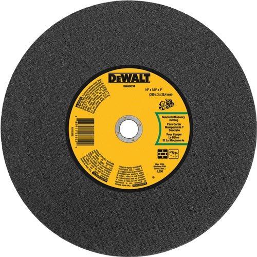 DEWALT DWA8034 Concrete Masonry Port Saw Cut-Off Wheel, 14-Inch X 1/8-Inch X 1-Inch
