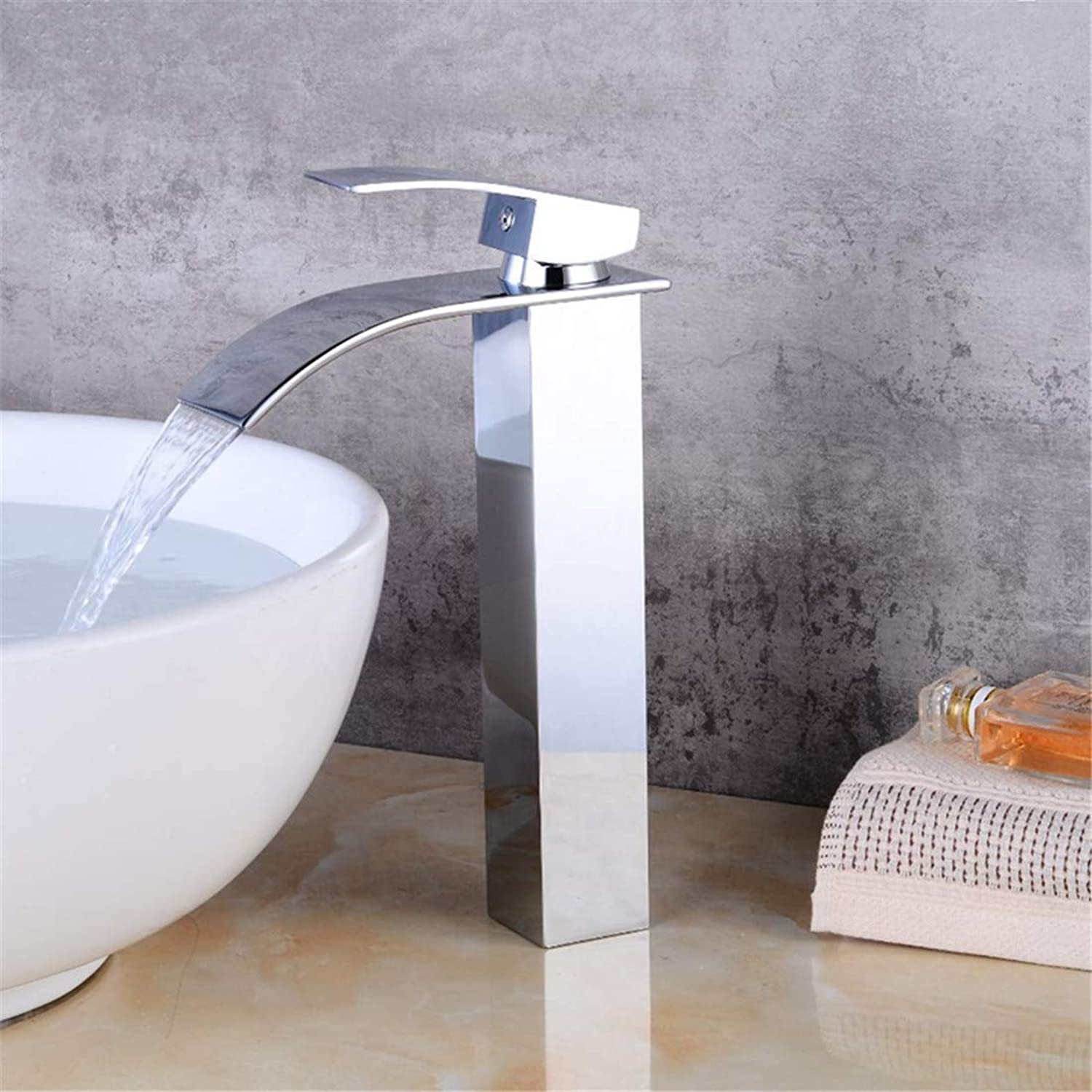 Retro Plated Hot and Cold Faucet Faucetbrass Waterfall Bathroom Faucet Basin Faucet Vanity Vessel Basin Mixer Tap
