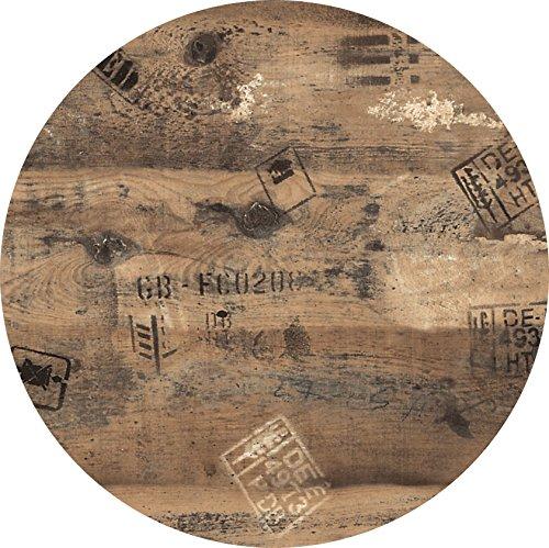 Tischplatte Werzalit Dekor Ex Works 90 cm rund wetterfest Ersatztischplatte Bistrotisch Stehtisch Tisch Gastronomie
