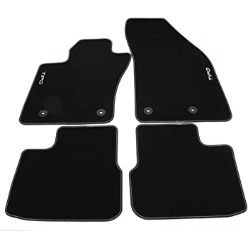 ZentimeX Z3217217 Tappetini in Gomma//TPE 3D Premium Tasca a Rete in Velcro