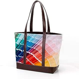 Yuzheng Color Palette Guide. Sample Colors Catalog. Women's soft microfiber leather tote shoulder bag,big capacity handbag,fashion gripesack 33.8x12x31cm/13.3x4.7x12.115 in