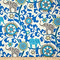 Waverly Sun N Shade Menagerie Sapphire, Fabric by the Yard