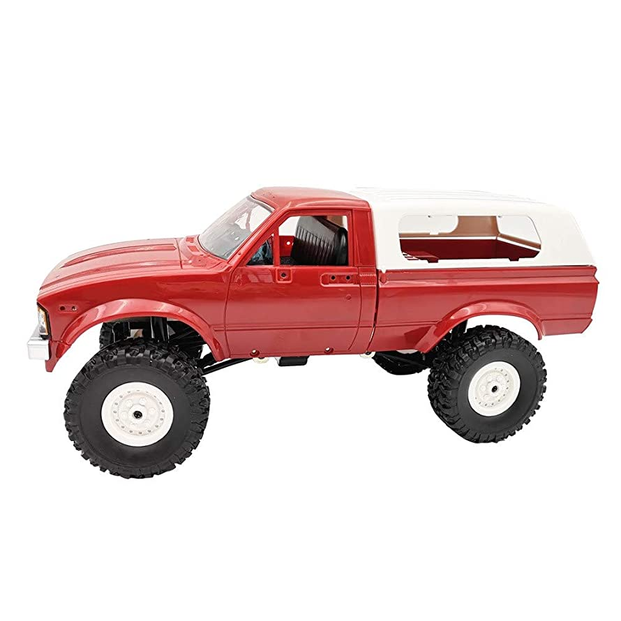 WPL C24 Pickup Truck,Zhaowei 1:16 4WD 2.4G Military Rock Buggy Crawler Off-Road RC Car (red)