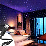 CYAUTOR Home Star Projector Night Lights USB Portable Adjustable Flexible Interior Car Roof Night Lamp Decoration Accessories with Romantic Galaxy Atmosphere for Car, Ceiling, Bedroom, Party