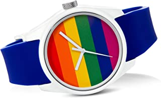 40N6.1MN 40NINE Rainbow Pride 43MM Watch, Navy Strap