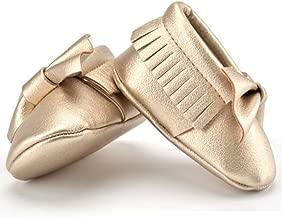 metallic baby moccasins