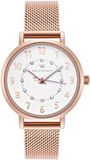 WRISTOLOGY Charlotte - 3 Options - Numbers Womens Watch Rose Gold