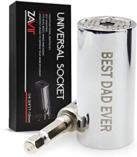 "Gifts for Dad from Daughter Son, Universal Socket ""BEST DAD EVER"",Christmas Stocking Stuffers for Men,Birthday Fathers Day..."