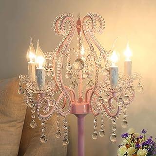 Lampadaire Lampe de chevet de chambre à coucher verticale en cristal rose