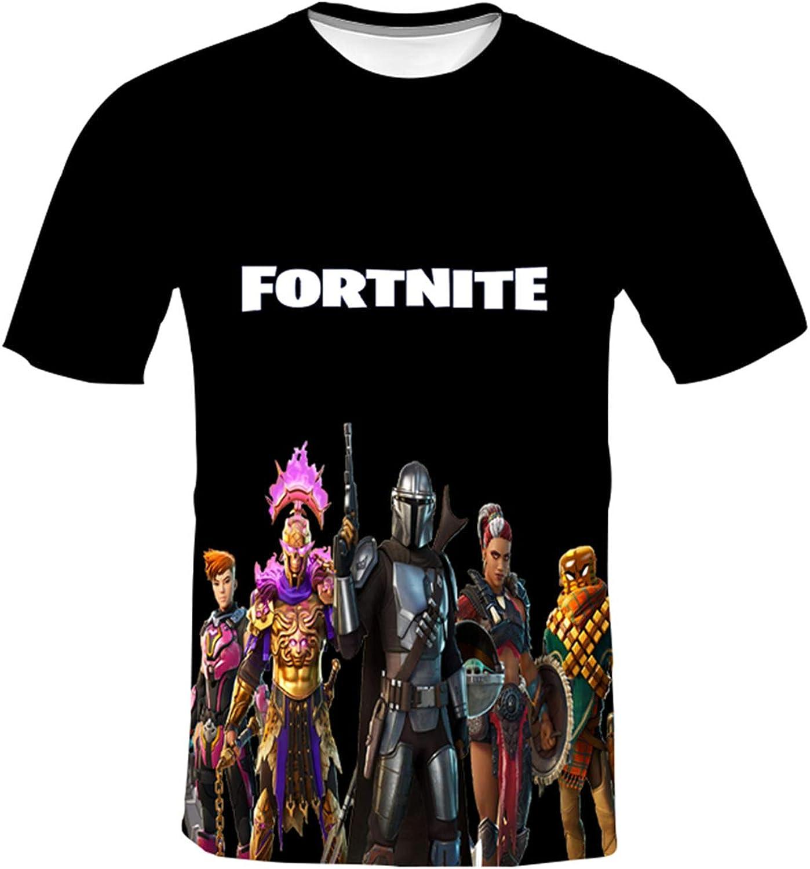 Epic Games Fortnite T Shirt Youth Fashion Casual Short Sleeve Shirts 3D Printed T Shirts for Teens Boys Girl