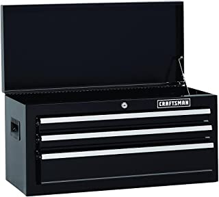 Craftsman 26 In. Wide 3-drawer Standard Duty Ball-bearing Top Chest - Black