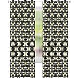 YUAZHOQI Cortinas opacas para dormitorio geométricas de líneas pálidas para ventanas de salón de 132 x 241 cm (2 paneles)