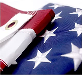 VSVO American Flag 2x3 ft - US Outdoor Flags- Embroidered Stars, Sewn Stripes, Brass Grommets Outside U.S. Flags.