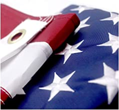 VSVO American Flag 2x3 ft - US Outdoor Flags- UV Protected, Embroidered Stars, Sewn Stripes, Brass Grommets Outside US Flags.