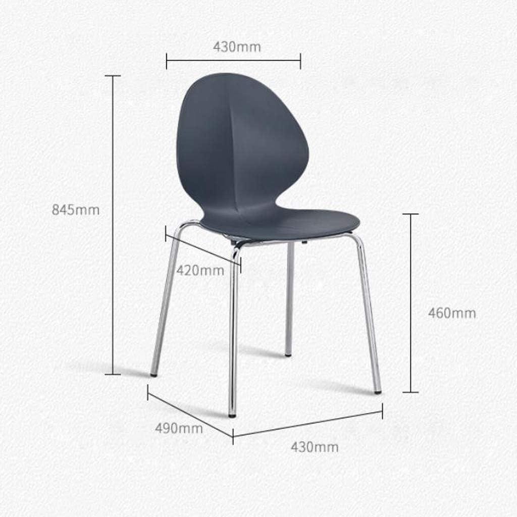 ZT Chaise simple d'étudiant bureau et chaise de maquillage d'ordinateur tabouret arrière chaise de salle à manger durable (couleur : orange) Noir