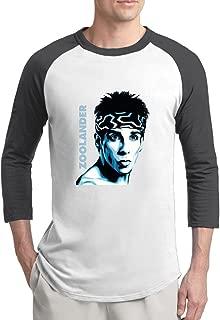 Zoolander 2 The Blue Steel Man Mens Holidays 100% Cotton 3/4 Sleeve Athletic Baseball Raglan Sleeves T-Shirt