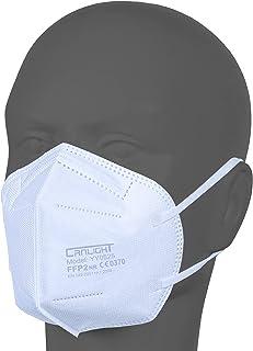 AUPROTEC 50 Stück FFP2 Maske Atemschutzmaske EU CE 0370 Zertifiziert EN149:2001+A1:2009 Mundschutz 5 lagig mit innen liege...