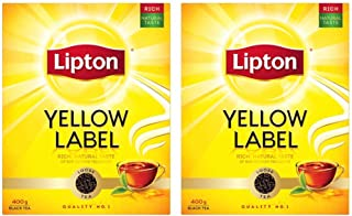 Lipton Yellow Label Black Loose Tea, 2 X 400 gm