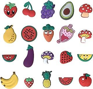 SAY OUT 20pcs Fruits Avocado Watermelon Grape shoe charms for croc jibbitz bracelets & Kids gifts Birthday Present
