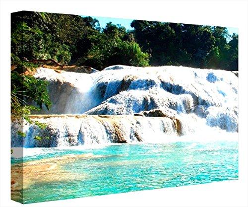 CCRETROILUMINADOS Paisaje Natural Cascada Cuadro con Luz, Metacrilato, Multicolor, 60 x 80 x 5,3