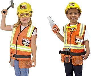 Prettyia 8pcs//Set Kids Construction Worker Costumes Uniform Outfit Halloween