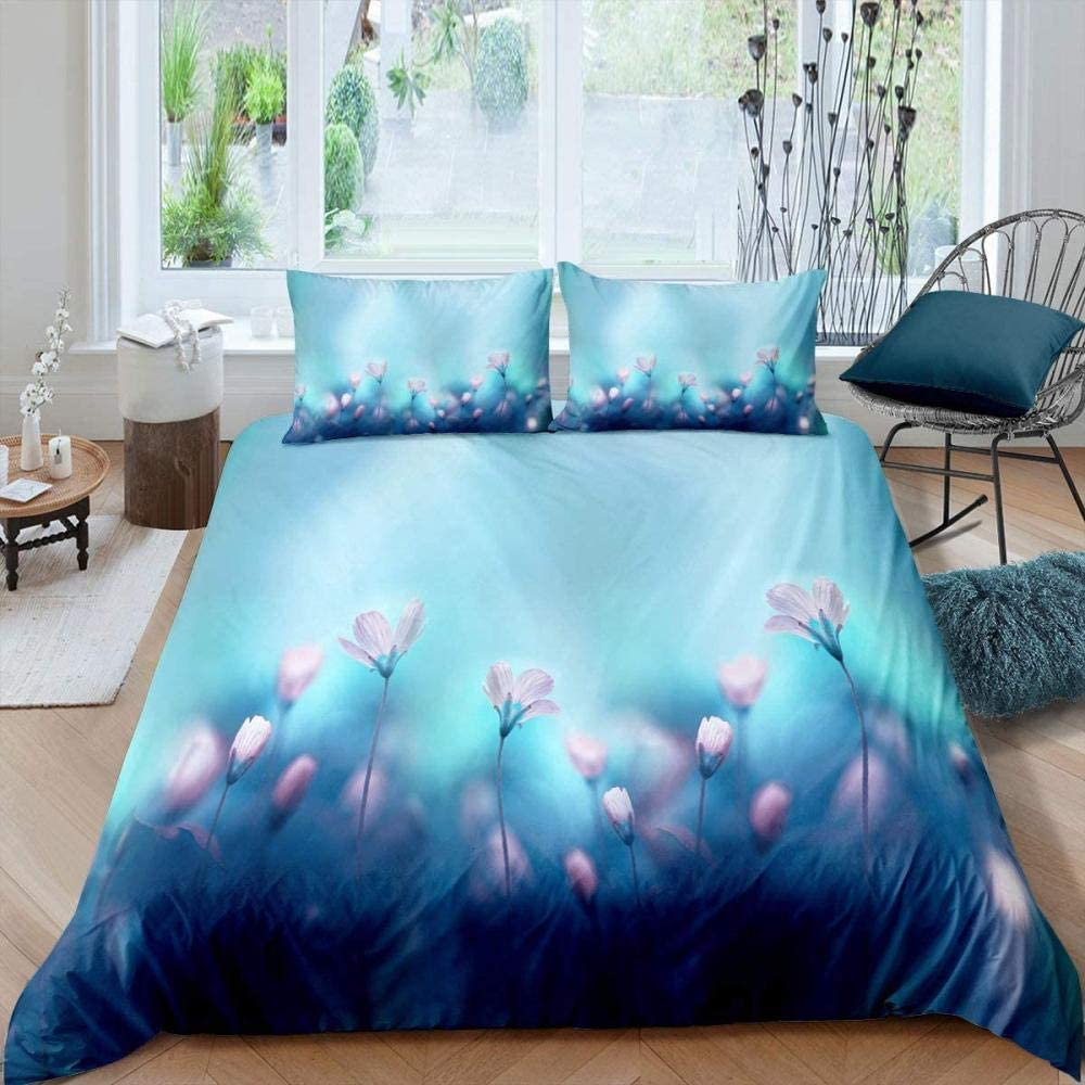 RTBDWOSI Blue Fantasy Plant Ranking TOP5 Flower Bedding Cover Nature Max 68% OFF Se Duvet