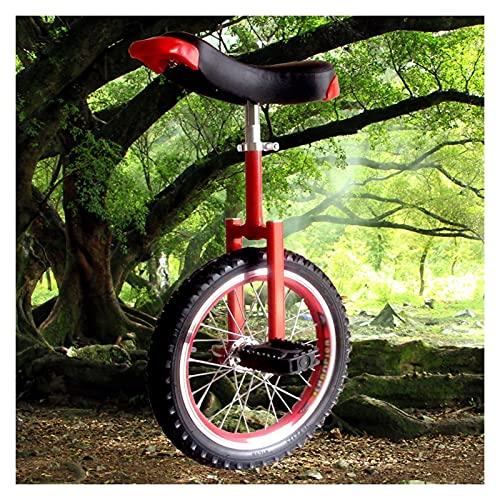 Einrad, Rutschfestes Ger?ndeltes Sitzrohr 16/18/20/24 Zoll Rad Einrad for Erwachsene Kinder M?nner Teenager Jungen Reiter, Berg Im Freien (Color : Red, Size : 16 inches)