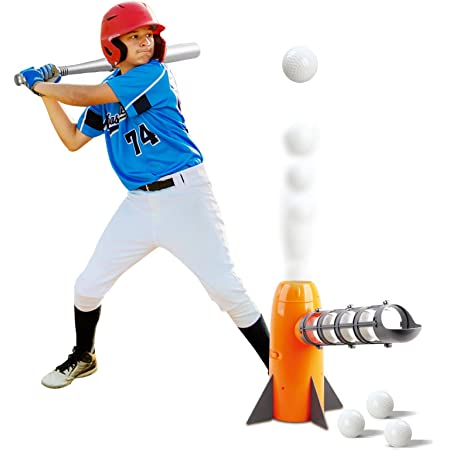 Portable Plastic Automatic Baseball Batting Catching Machine Baseball Gift for Children Vbest life Outdoor Baseball Pitching Machine Set