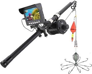 DMNSDD HD DVR Recorder Fish Finder, Kit de cámara de Video de Pesca subacuática portátil, 10PCS Luces LED Cámara de Rueda ...