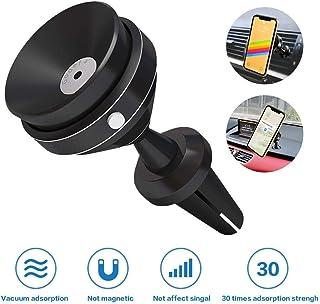 حامل هاتف Godefa Vacuum Car Mount، حامل التهوية / لوحة القيادة للسيارة لهاتف iPhone Xs Max R X 8 Plus 7 Plus 6S Samsung Ga...