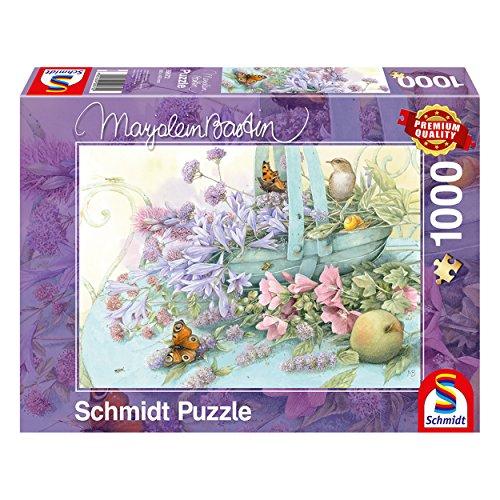 Schmidt Marjolein Bastin-Puzzle Cesta de Flores (1000 Piezas), Multicolor (59572)