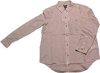 Women's Long Sleeve Button Down Shirt, Dusk Pink Heather