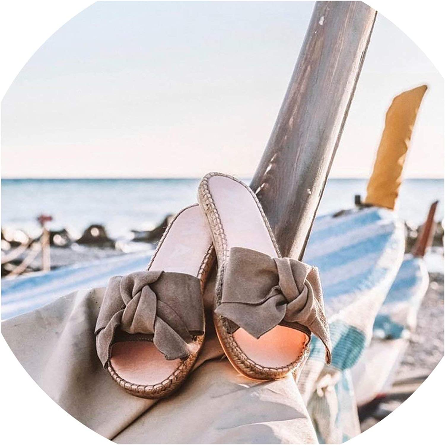 2019 Women Summer New Slippers Bow Summer Sandals Slipper Indoor Outdoor Flip-Flops Beach shoes Female Fashion shoes