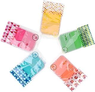 D DOLITY 5pcs Shower Bath Gloves Exfoliating Wash Skin Spa Massage Body Scrub Towel