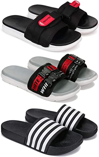 Fashion Perfect Washable Flip Flop Slipper Slides Walking Slipper for Men Pack of 3