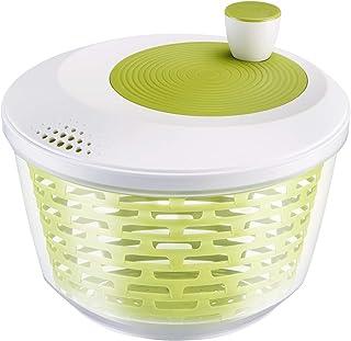 Westmark Essoreuse à Salade, Capacité : 4,4 L, ø 23,5 cm, Plastique, Sans BPA, Spinderella, Couleur: Transparent/Blanc/Ver...