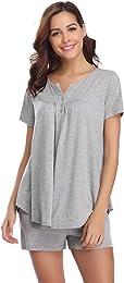 Pyjama Femmes Coton Confortable Couleur Pure Vêtem